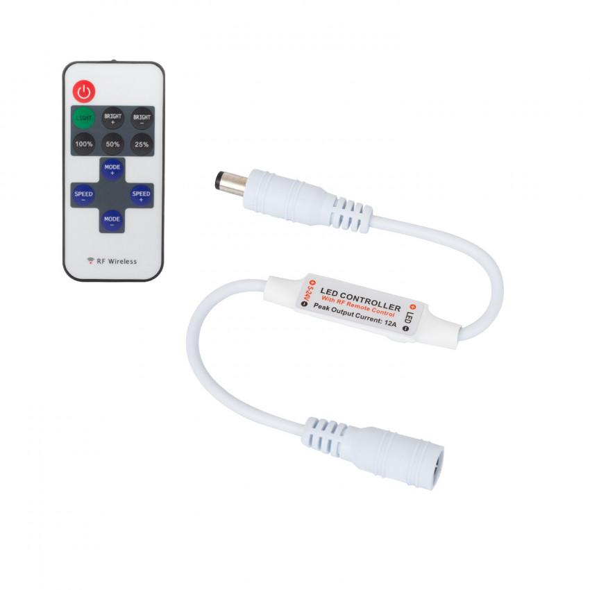 Mini Controleur Ruban LED Monochrome 12/24V, Dimmable avec télécommande RF 10 Touches