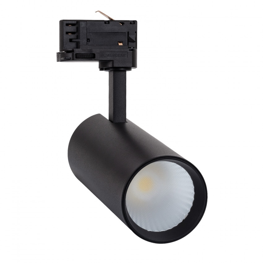 Spot LED New Bertha 30W Noir CCT LIFUD pour Rail Triphasé (3 Allumages)