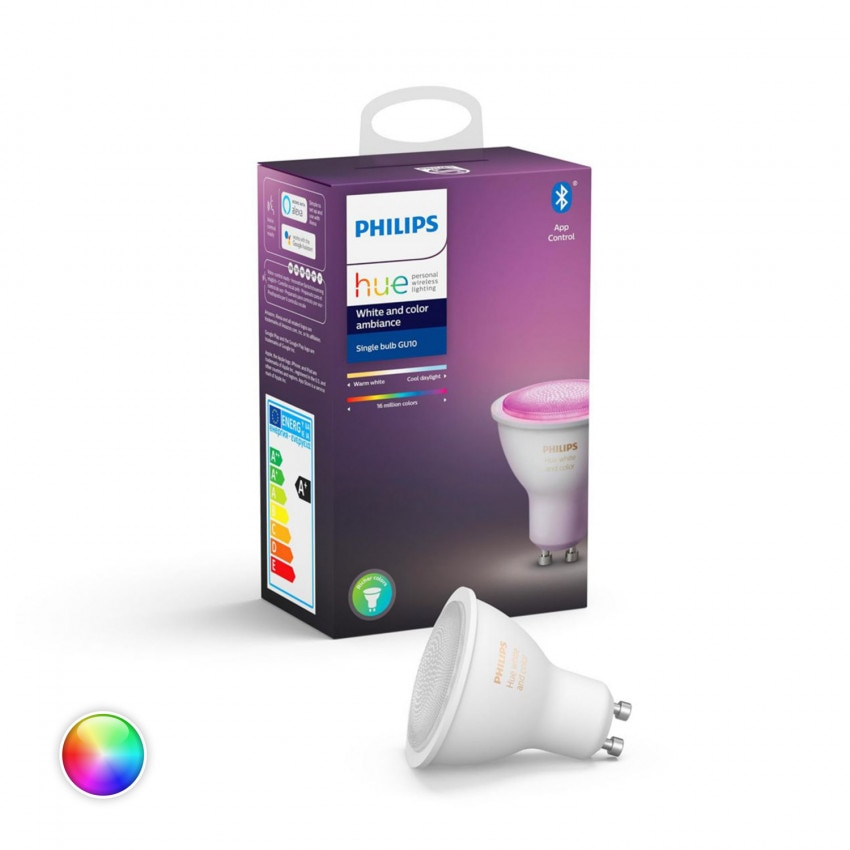 Ampoule LED GU10 RGBW PHILIPS Hue White Color 6W