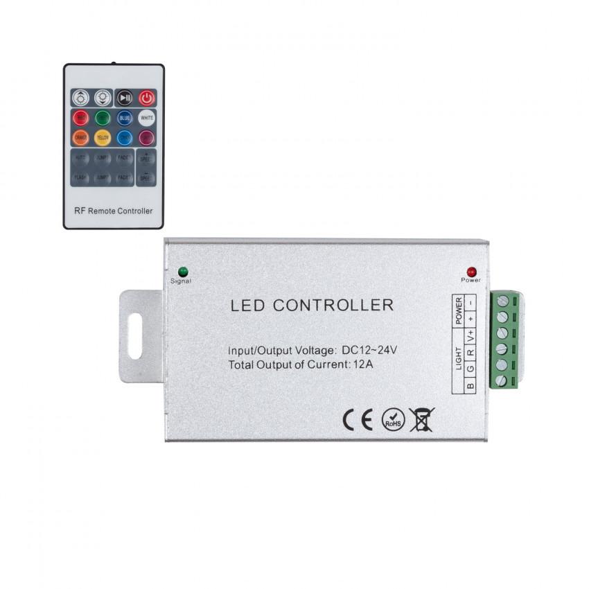 Contrôleur Ruban LED RGB 12/24V, Dimmable par Télécommande RF 20 Touches