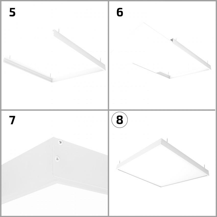 Panel LED 120x30cm 40W 4000lm (UGR17) + Kit de Superficie