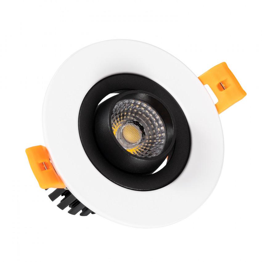 Spot Downlight LED COB Orientable 360º Rond 7W Design Coupe Ø 70mm