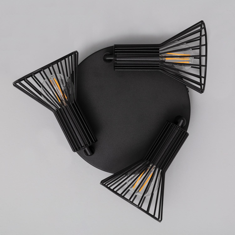 Foco Orientable Royal 3x Negro