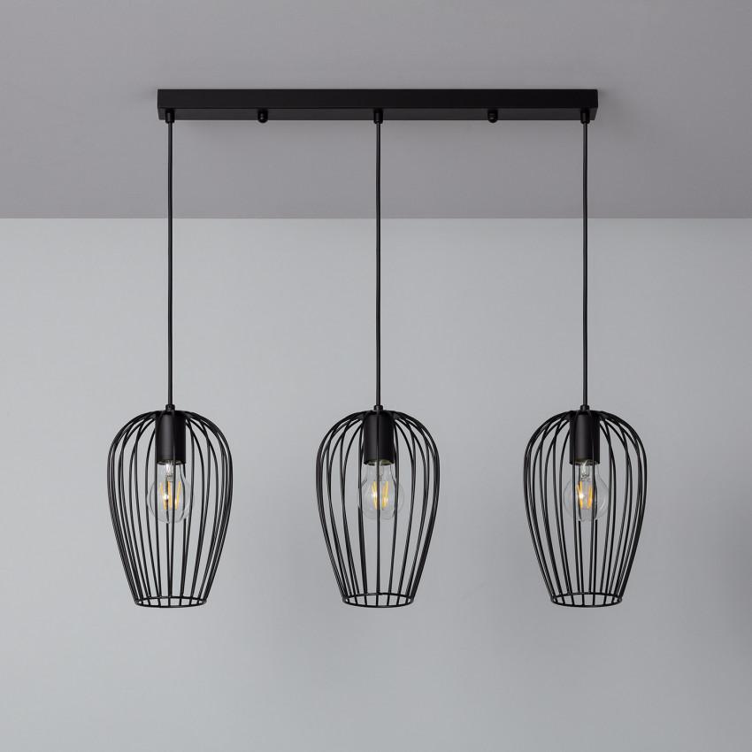 Lampe Suspendue Telmi 3 Spots Noir