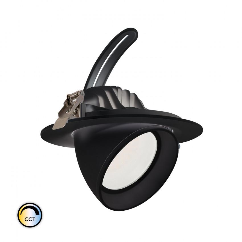 Projecteur LED SAMSUNG 125lm/W Orientable Rond 38W Noir CCT LIFUD