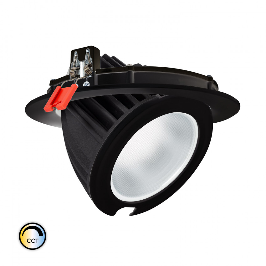 Projecteur LED SAMSUNG 125lm/W Orientable Rond 48W Noir CCT Sélectionnable LIFUD