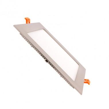 Dalle LED Carrée Extra Plate LED 18W Cadre Argenté