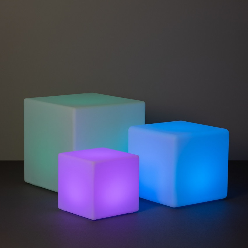 Cube LED RGBW Rechargeable