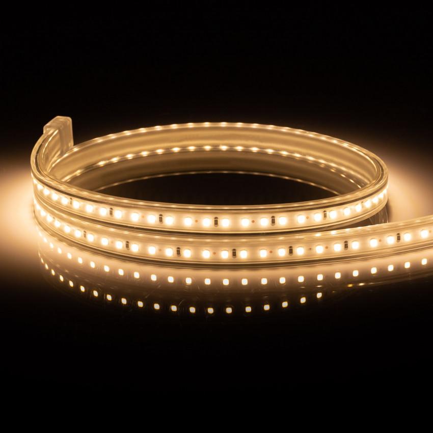 Ruban LED 220V AC 120 LED/m IP65 Blanc Chaud Sur Mesure Coupe Tous les 50cm