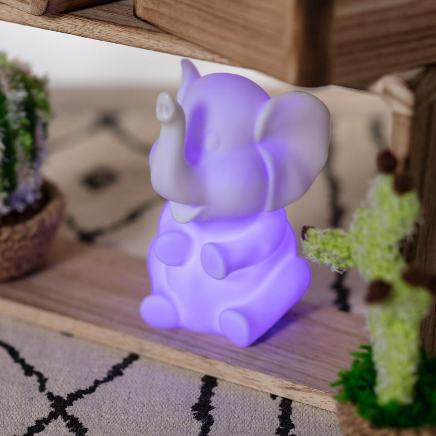 Lumière LED Chevet Kids Éléphant RGB