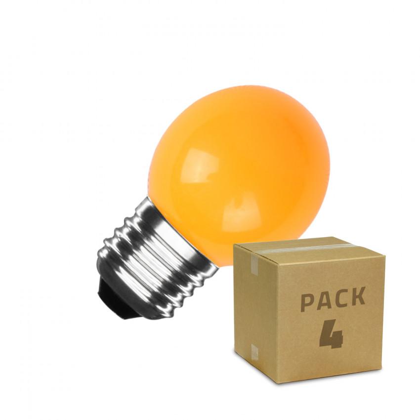 Pack de 4 Ampoules LED E27 G45 3W Orange