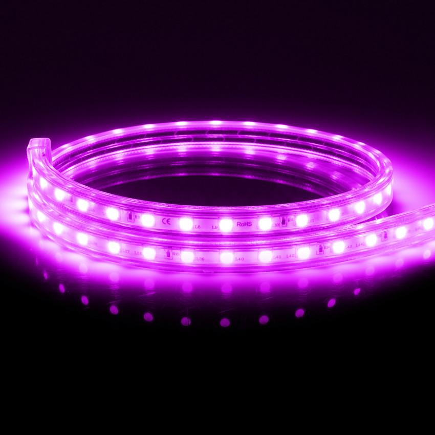 Ruban LED Dimmable 220V AC 60 LED/m Violet IP65 sur Mesure