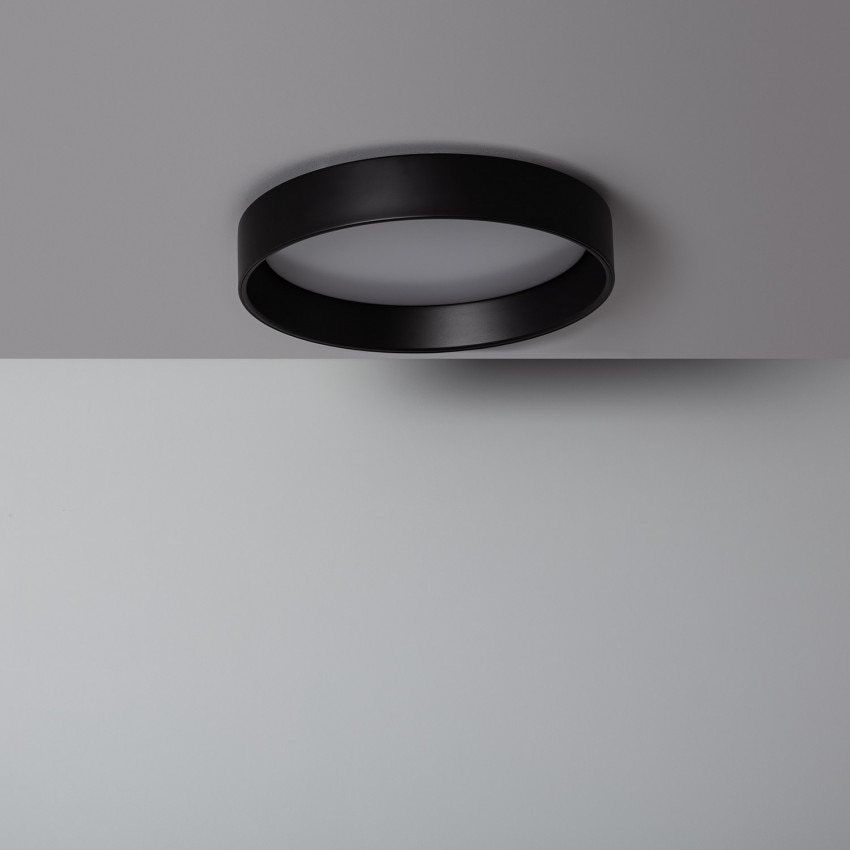 Plafonnier LED Rond CCT Sélectionnable Design 20W Black