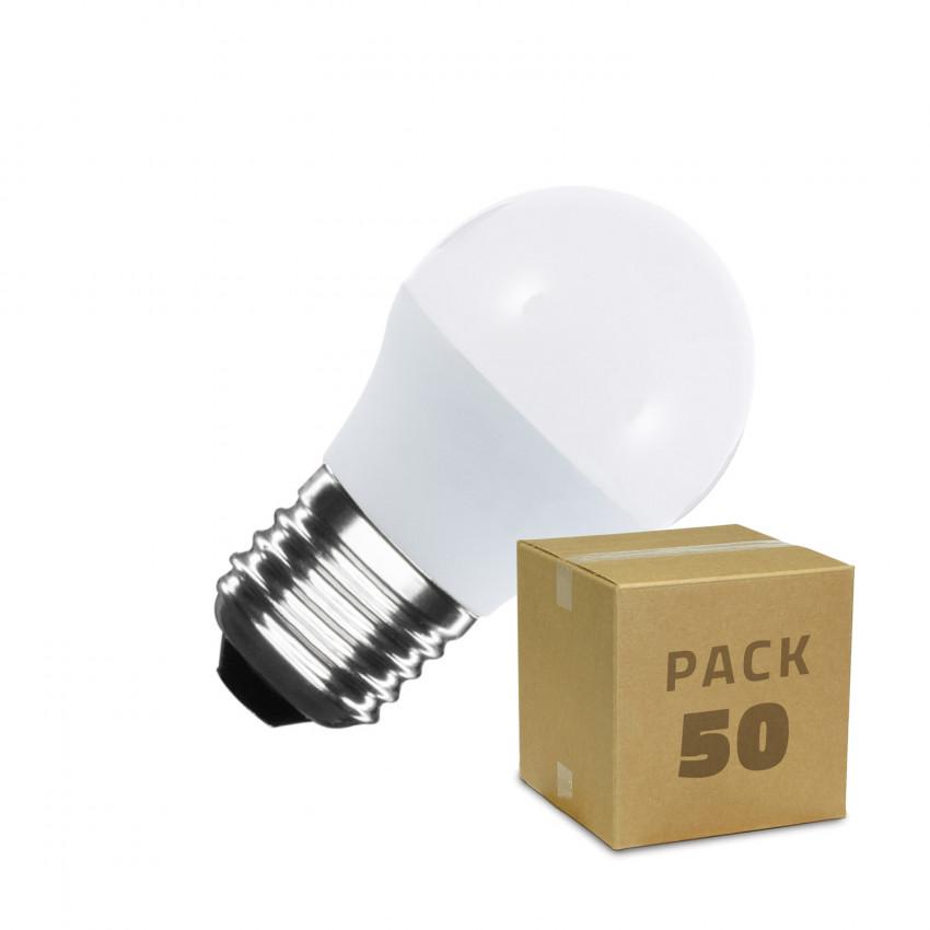 Boîte de 50 Ampoules LED E27 G45 5W Blanc Chaud