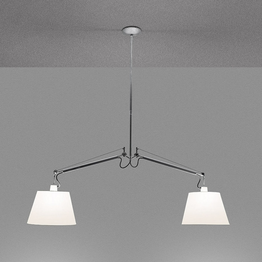 Lampe Suspendue Tolomeo 2 Bras Pivotants ARTEMIDE