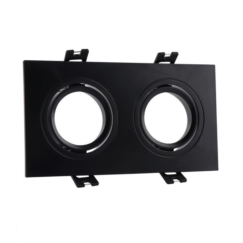 Aro Downlight Cuadrado Basculante PC para dos Bombillas LED GU10 / GU5.3