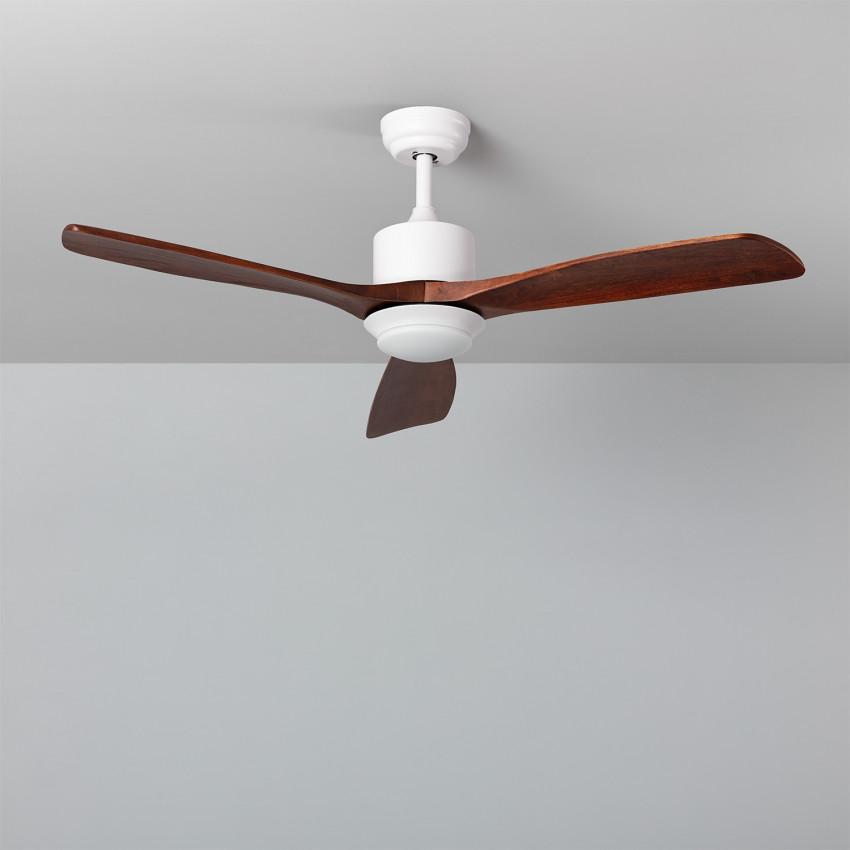 Ventilateur de Plafond LED Forest Bois 132cm Moteur AC