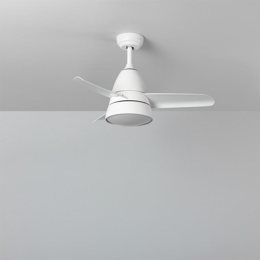 Ventilateur de Plafond LED Industriel Blanc 91cm Moteur DC