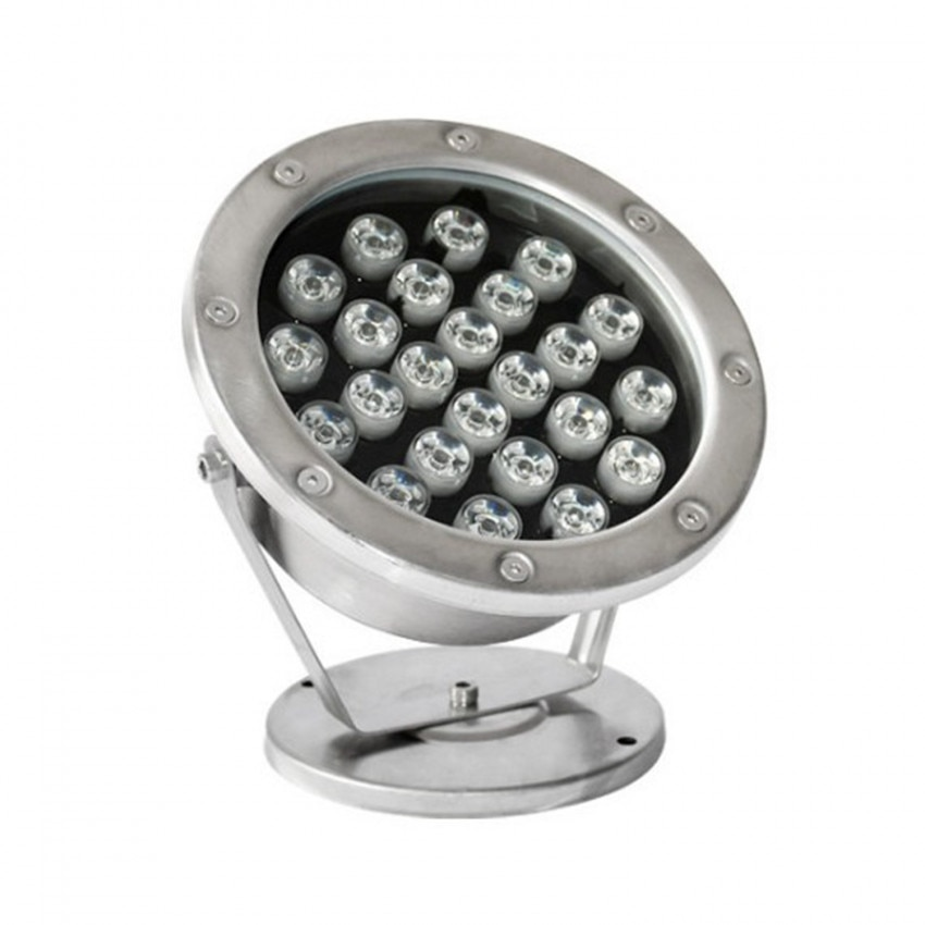Spot LED Fixation au Sol 12V 24W Submersible IP68