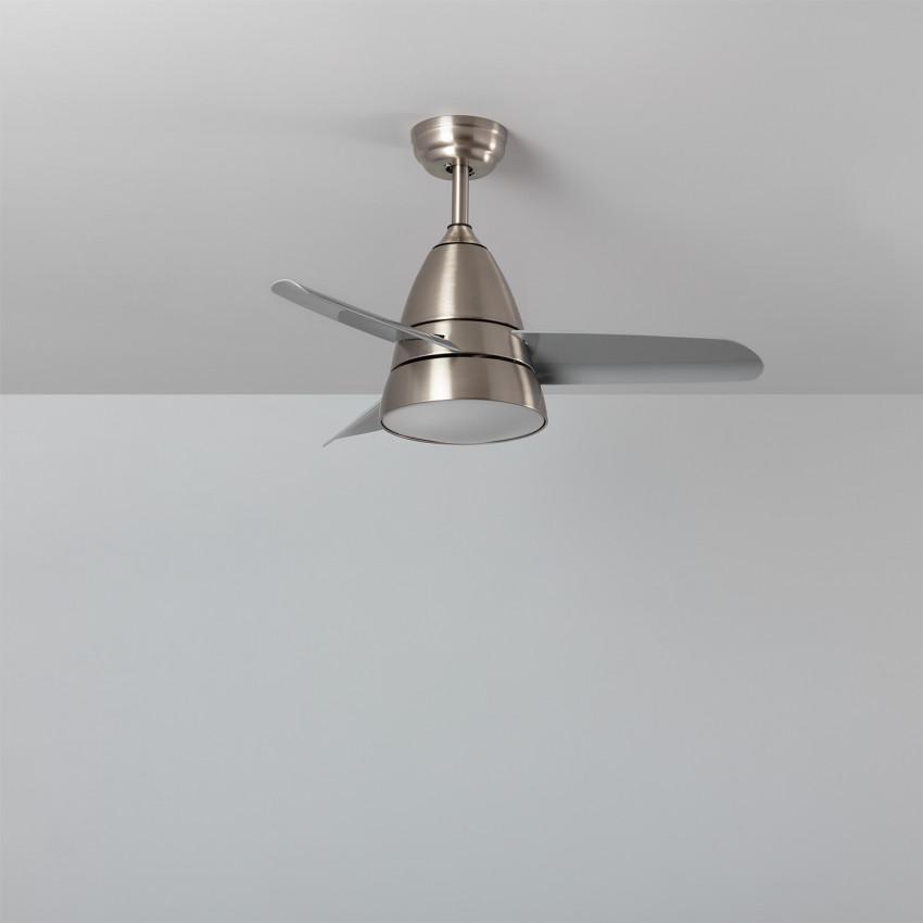 Ventilateur de Plafond LED Industriel Gris 91cm Moteur DC
