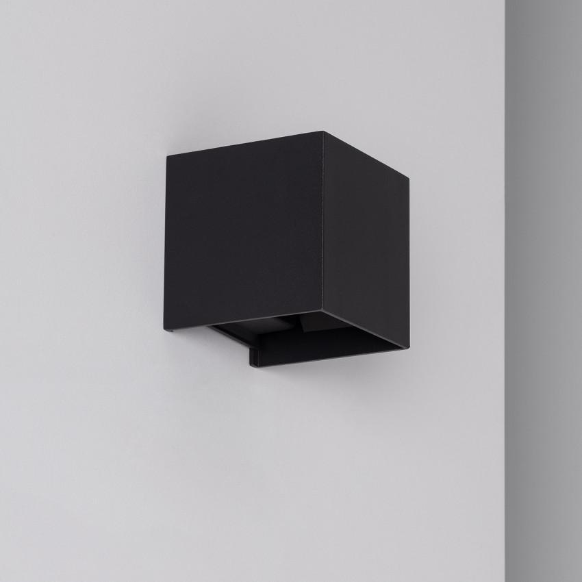 Applique LED Eros 6W Noire Éclairage Double Face