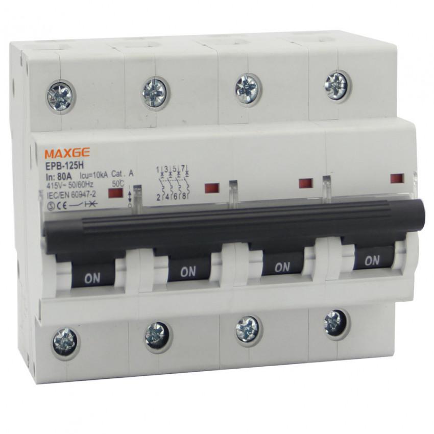 Disjoncteur Automatique Industriel MAXGE 4P-10kA 63-125A