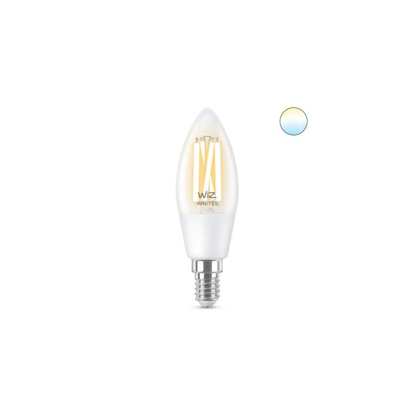 Ampoule LED Smart WiFi E14 C35 CCT Dimmable WIZ Filament Bougie 4.9W