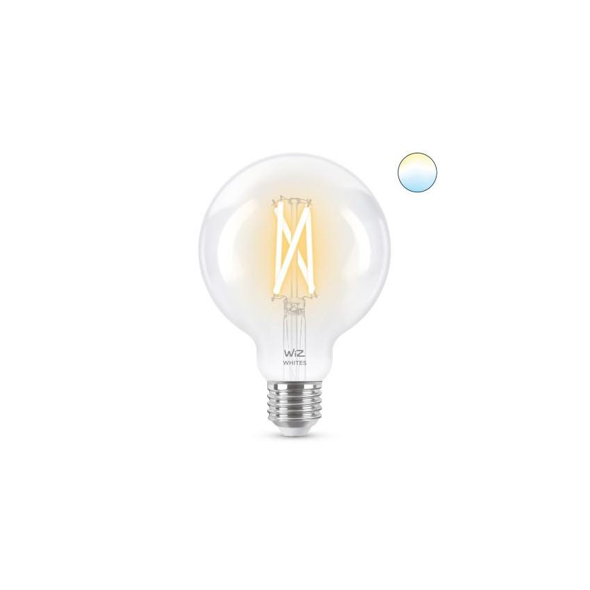 Ampoule LED Smart WiFi E27 G95 CCT Dimmable WIZ Filament 6.7W