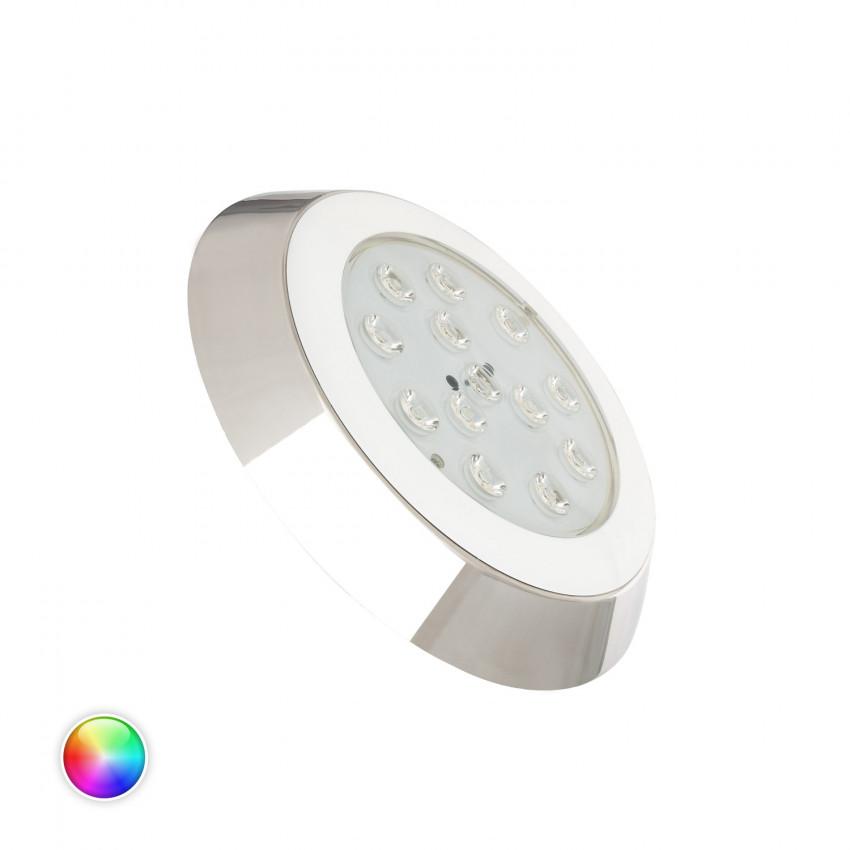 Spot LED Piscine en Saillie RGBW 12V DC Inox 12W