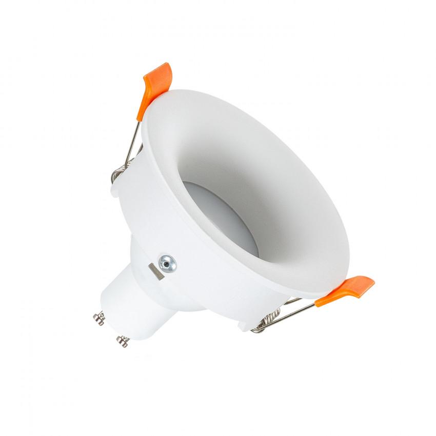 Collerette Ronde Downlight Lumière indirecte Blanche pour Ampoule LED GU10 / GU5.3