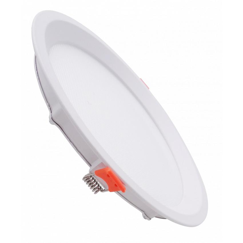 Dalle LED Ronde Slim 16W CCT Sélectionnable LIFUD (UGR17) Coupe Ø 150mm