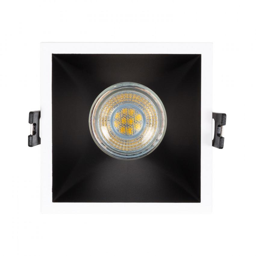 Collerette Downlight Carrée Faible UGR PC pour Ampoule LED GU10