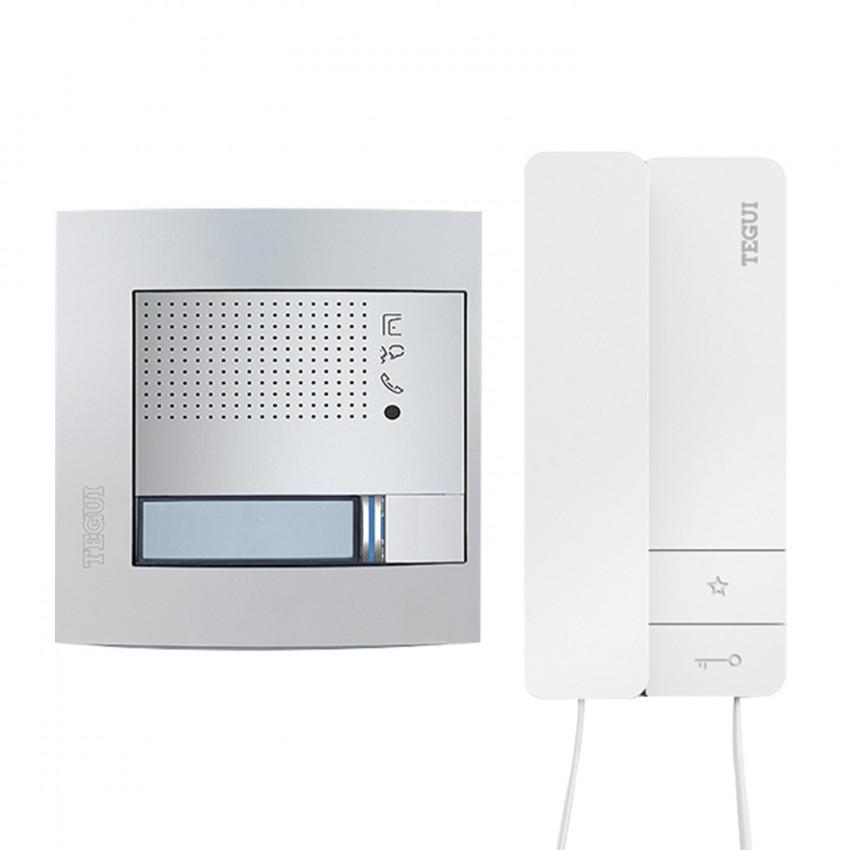 Kit Interphone 1 Logement 2 fils avec Panneau SFERA NEW et Téléphone Serie 8 TEGUI 378131