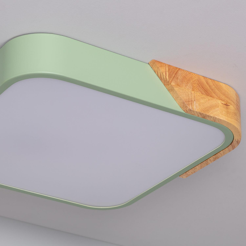 Plafón LED Cuadrado Semi-Dari 18W CCT Seleccionable