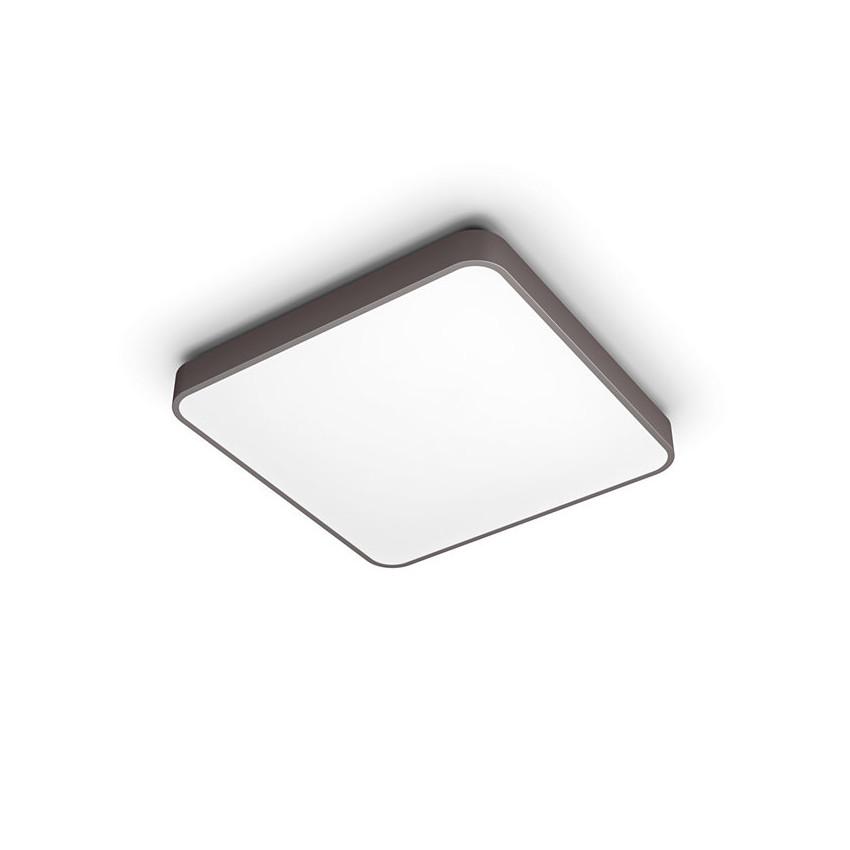 Plafonnier LED PHILIPS Carré CCT Marron 32W avec Télécommande