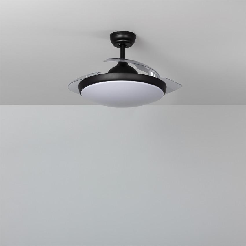 Ventilateur de Plafond LED Kourak Noir 106cm Moteur DC