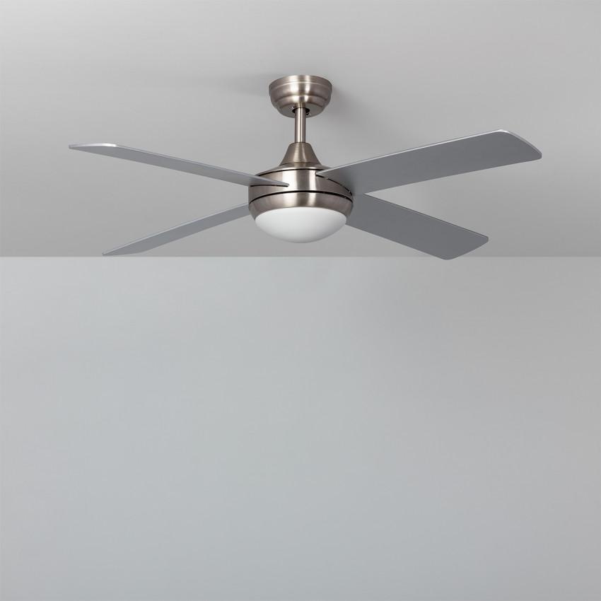 Ventilateur de Plafond LED Leirus Niquel 107cm Moteur DC