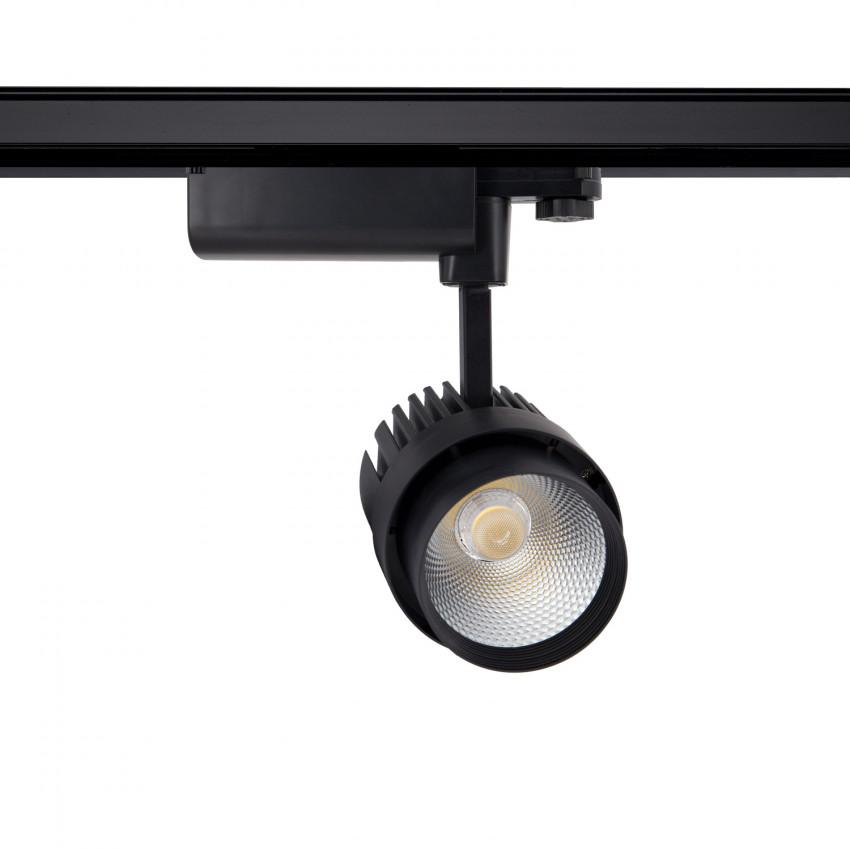 Spot LED Dora 30W Noir pour Rail Triphasé (3 Allumages)