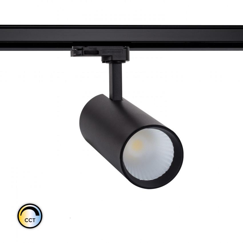 Spot LED New Bertha 30W Noir CCT LIFUD pour Rail Triphasé (3 Allumages)