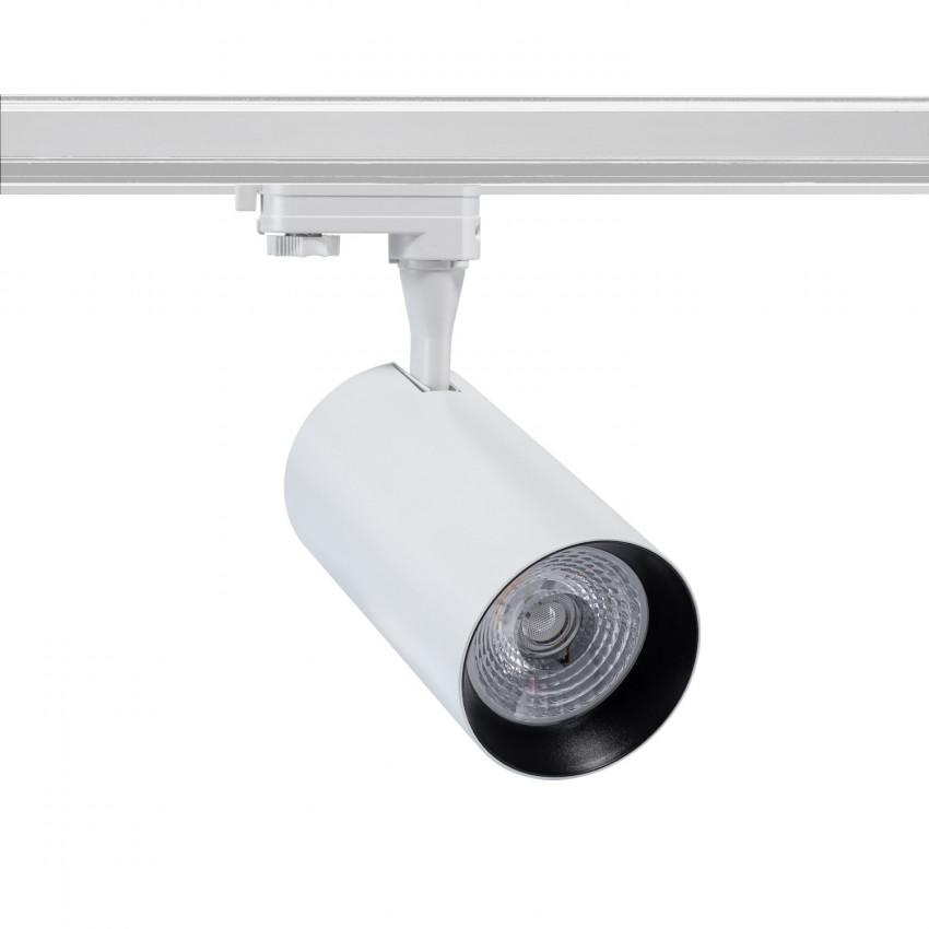 Spot LED Vulcan 30W Blanc pour Rail Triphasé (3 Allumages)