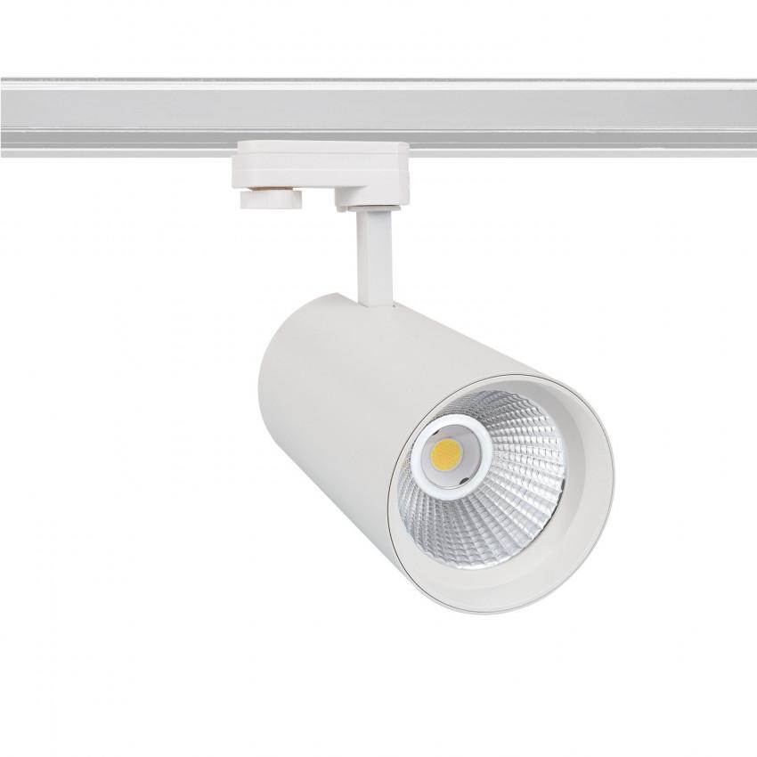 Spot LED New d'Angelo 40W Blanc LIFUD pour Rail Triphasé (3 Allumages) (CRI 90)