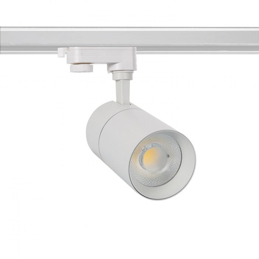 Spot LED Dimmable New Mallet 20W Blanc pour Rail Triphasé (3 Allumages)