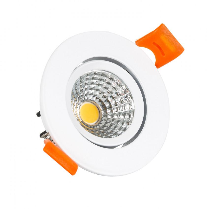 Spot Downlight LED COB Orientable Rond 3W (UGR19) Blanc Coupe Ø 55mm CRI92 Expert Color