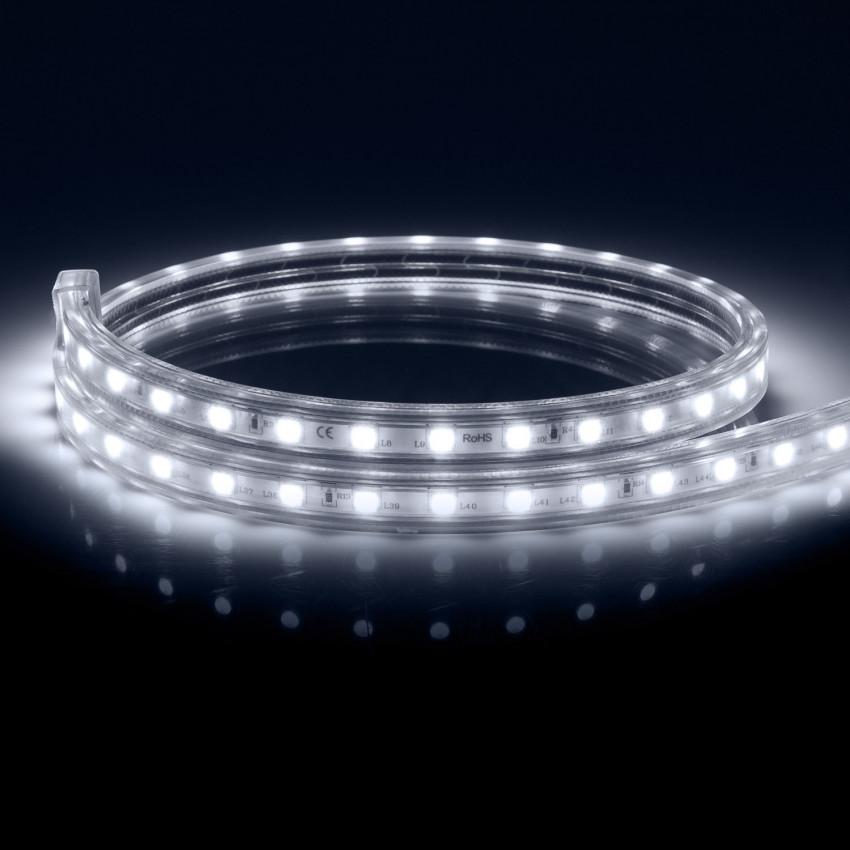 Ruban LED 220V AC 100 LED/m Blanc Froid IP67 sur Mesure Tous les 25cm