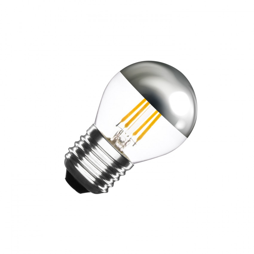 Ampoule LED E27 Dimmable Filament Chrome Reflect Small Classic G45 3.5W