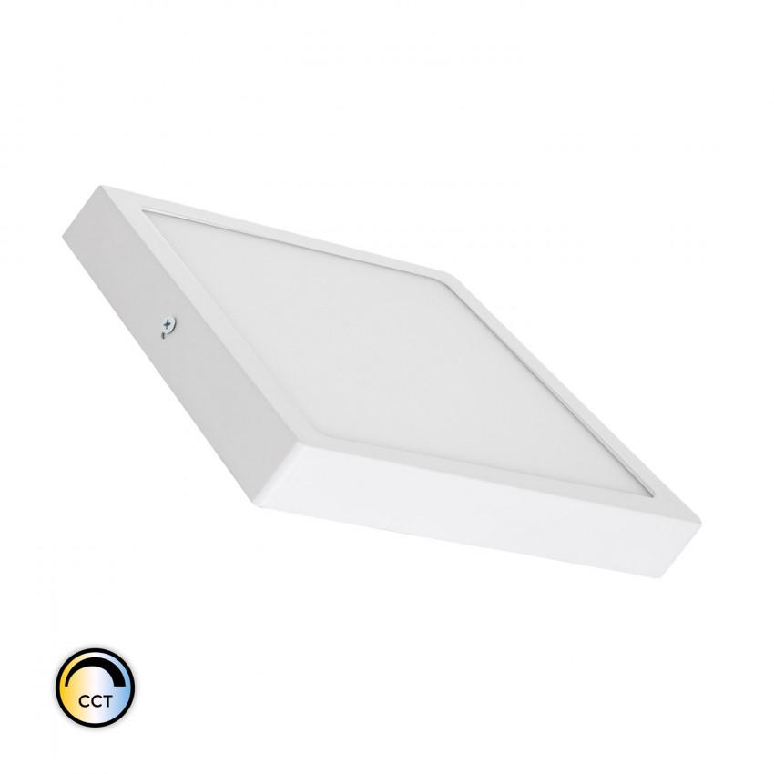 Plafonnier LED Carré 18W Extra-Plat CCT Sélectionnable