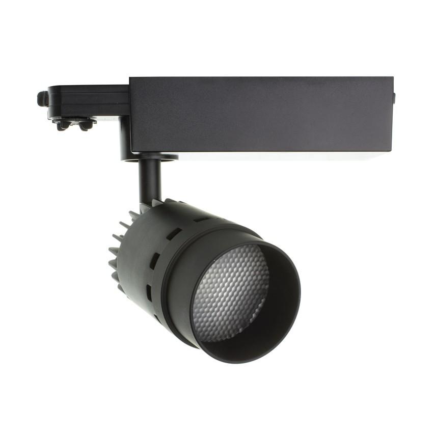 Spot LED Cree Cannon 20W Noir pour Rail Triphasé (UGR 19) (3 Allumages)