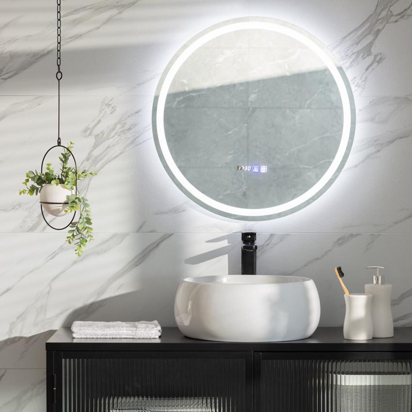 Miroir LED Anti-buée Tactile Stiniva Ø60cm
