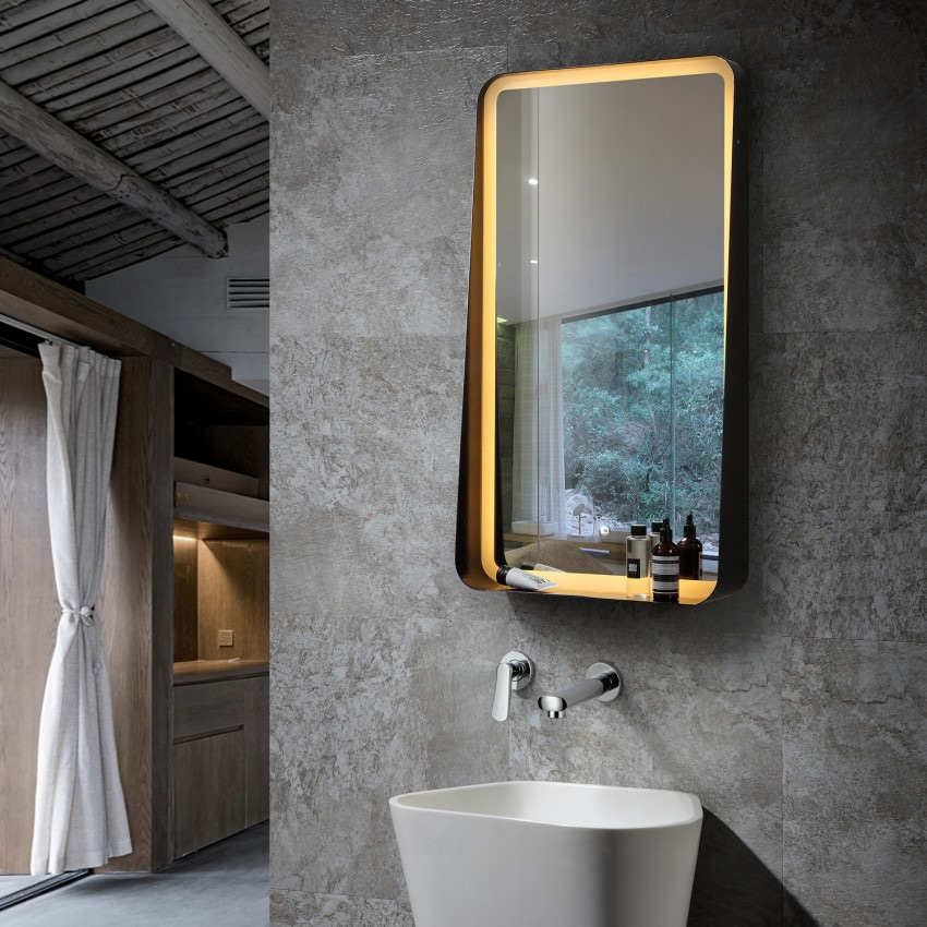 Miroir Décoratif LED Anti-buée Tactile Seychelles 45W