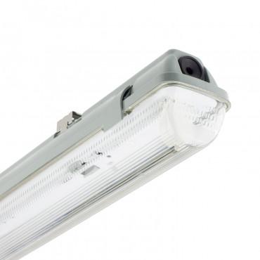 Plafoniera Stagna per un Tubo a LED 600mm PC/PC Connessione Unilaterale